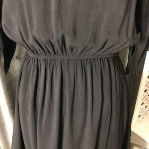 Dresses - Black Short Sleeve Dress with Fishnet Inserts